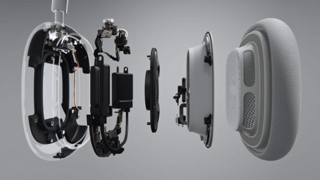 採用 40mm Apple 設計的動圈式驅動單元,備有 6 個向外和 2 向內的收音咪收集外界噪音和內部聲音進行主動降噪和通話分隔。