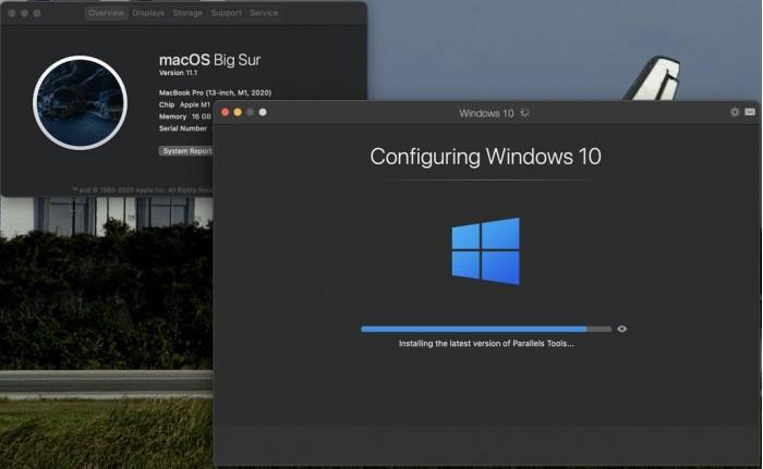 利用 Parallels Desktop for M1 Mac ,可以在 M1 Mac 機上安裝 Windows 10 on ARM 。