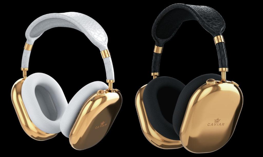 Gold White 和 Gold Black 版 AirPods Max ,各開價 $108,000 美元,各只有一套。