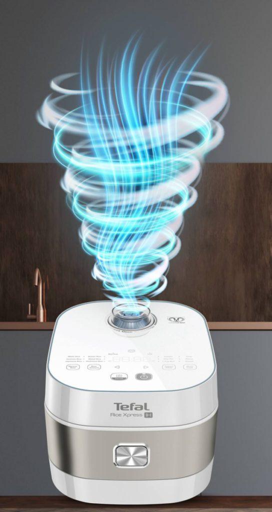 特別增設冷旋風技術,會在氣泡出現時,注入冷空氣,同時間把蒸氣排出,令鍋內溫度略為下降,除了更安全,還可以做到無間斷加熱