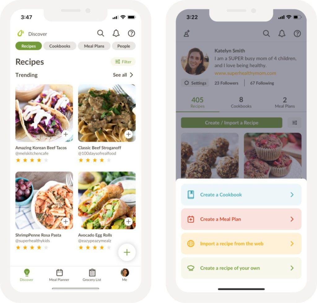 Prepear 是食譜和膳食計劃手機程式。