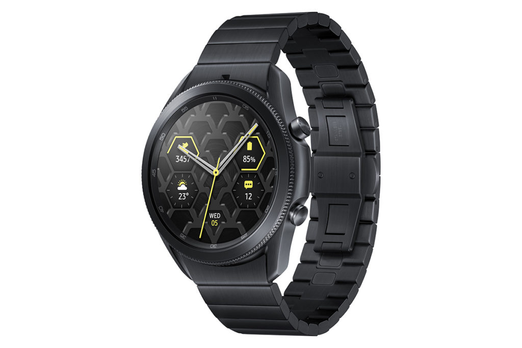 Samsung網上商店特別版產品 - 鈦金黑 Galaxy Watch3 45mm(鈦合金、藍牙版),即日發售,售價 $5,398。
