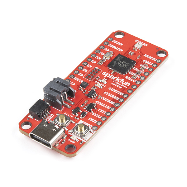 SparkFun Thing Plus - RP2040 提供多種供電方式。售 $16.00 (約港幣 $124 )。