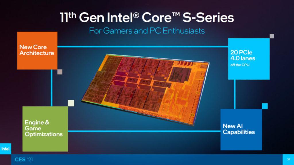 11 代 Core-S 將採用全新 CPU 微架構,並支援 AI 人工智能技術等等。