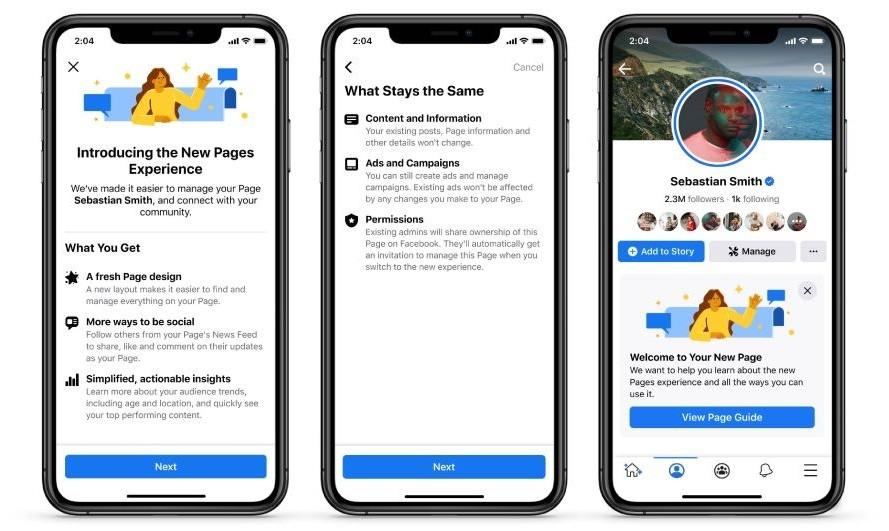 Facebook 宣布會對專頁進行一連串改變。