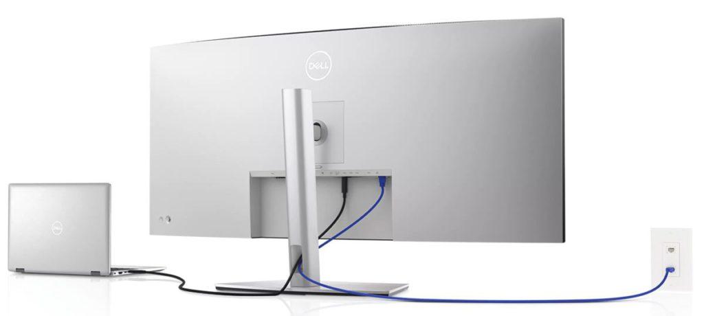 這屏幕還具備 KVM 功能,一組鍵盤和滑鼠即可控制兩部電腦。