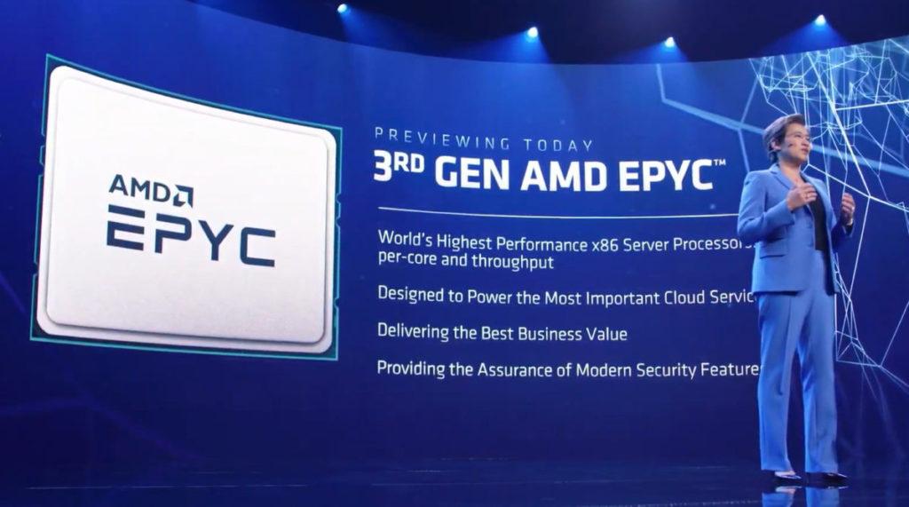 同場加映第 3 代 EPYC Server CPU 的發佈。它的登場表示 Zen3 Threadripper 登場之日不遠了。