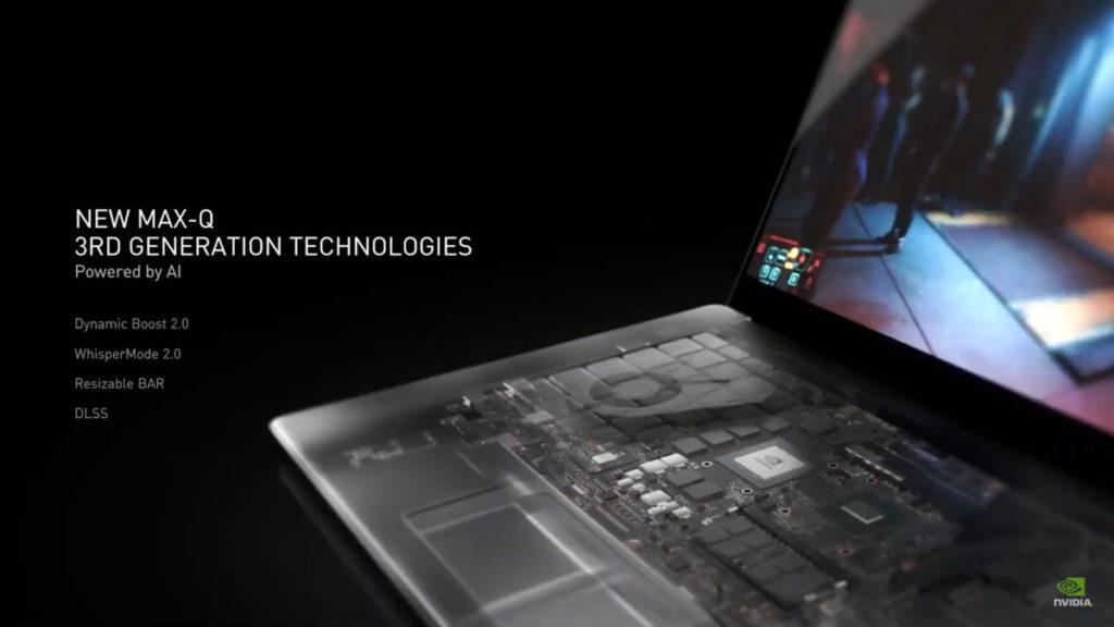 RTX 30 筆電採用第 3 代 Max-Q 技術,大量採用 AI 技術強化產品。
