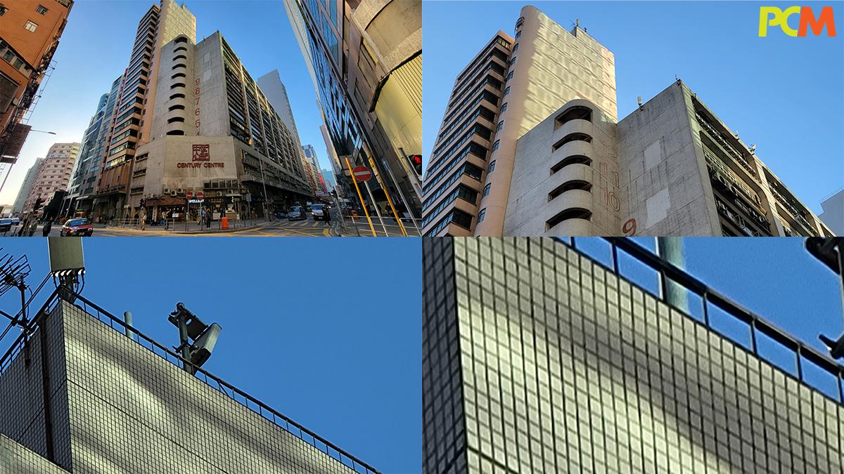 Zoom 到最遠都能夠保留建築物牆上的細節。