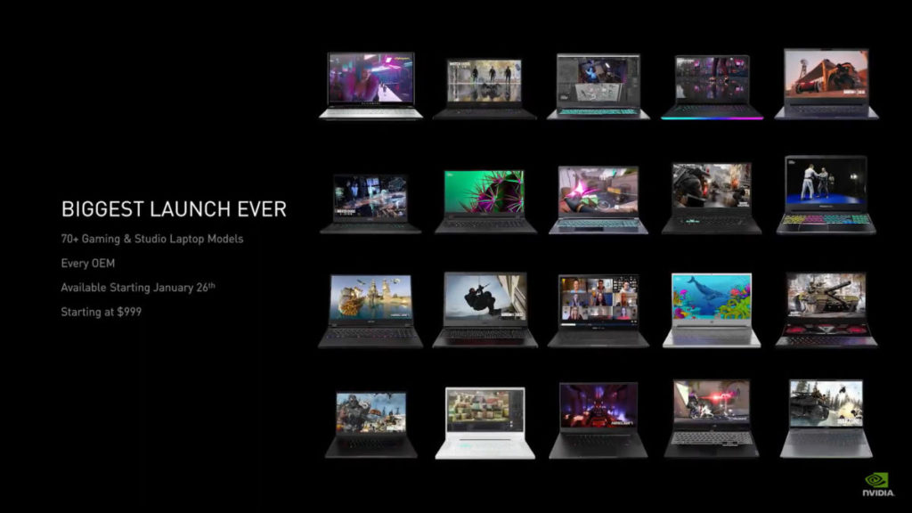 目前已完成超過 70 款 RTX 30 遊戲筆電產品設計,創紀錄新高。