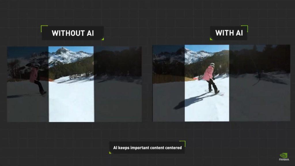 在 NVIDIA 示範中, AI 技術可輕易找出需要處理的部分。