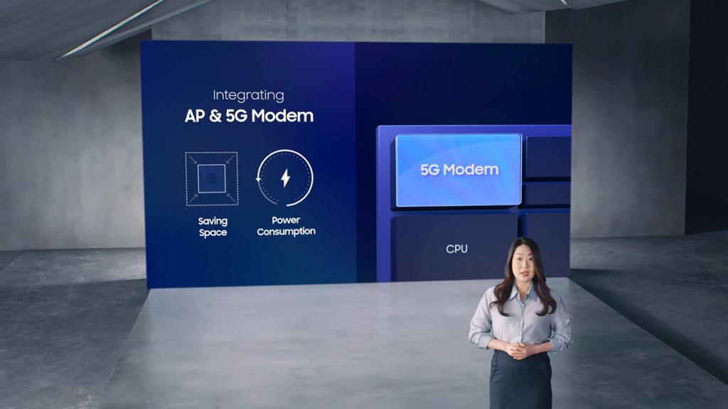 Exynos 2100 整合 5G Modem ,支援 Sub-6 及 mmWave 技術。