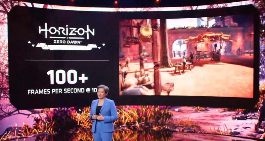 在《 Horizon Zero Dawn 》遊戲中, AMD Ryzen 5000HX 在 Ultra 畫質下可輕易實現 100fps 以上。