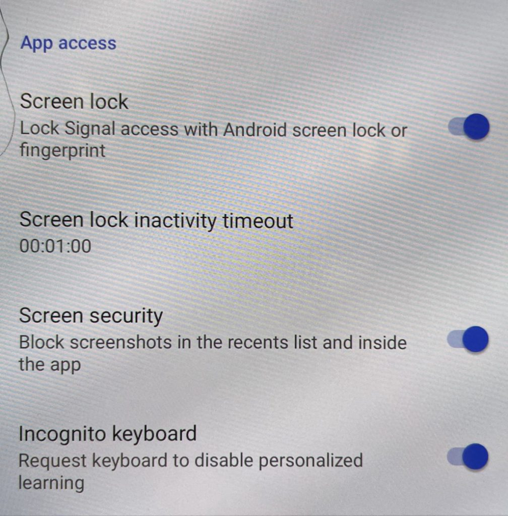 Android 版就可以阻止有心人截圖和鍵盤紀錄。