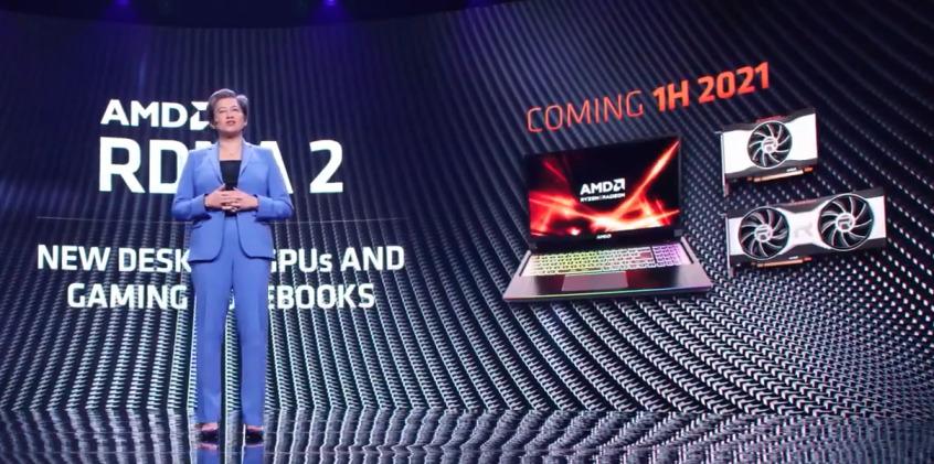 現場雖然沒有 Mobile RDNA2 GPU 型號的公佈,但表示第一季推出相關產品。