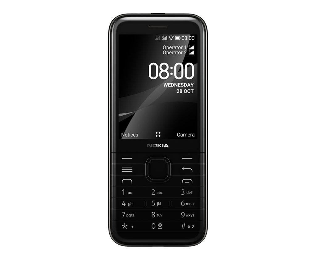 Nokia 8000 4G 是一款擁有 2.8 吋屏幕的直身手機,使用 KaiOS 系統,內置 Google Assistant 和 KaiStore ,提供 WhatsApp 、 Facebook 和 YouTube 等數百款應用程式。