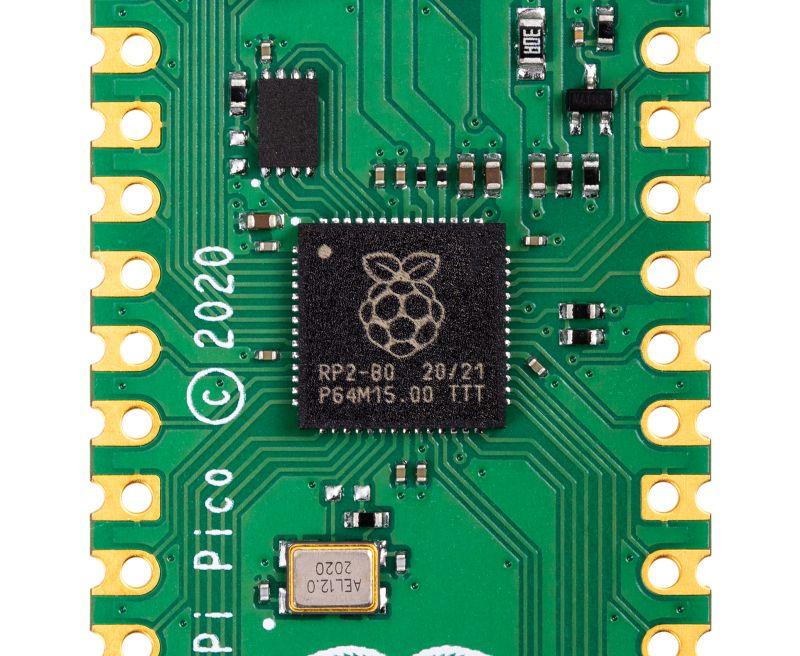 首粒由 Raspberry Pi 團隊自行研發的微處理器 RP2040 。