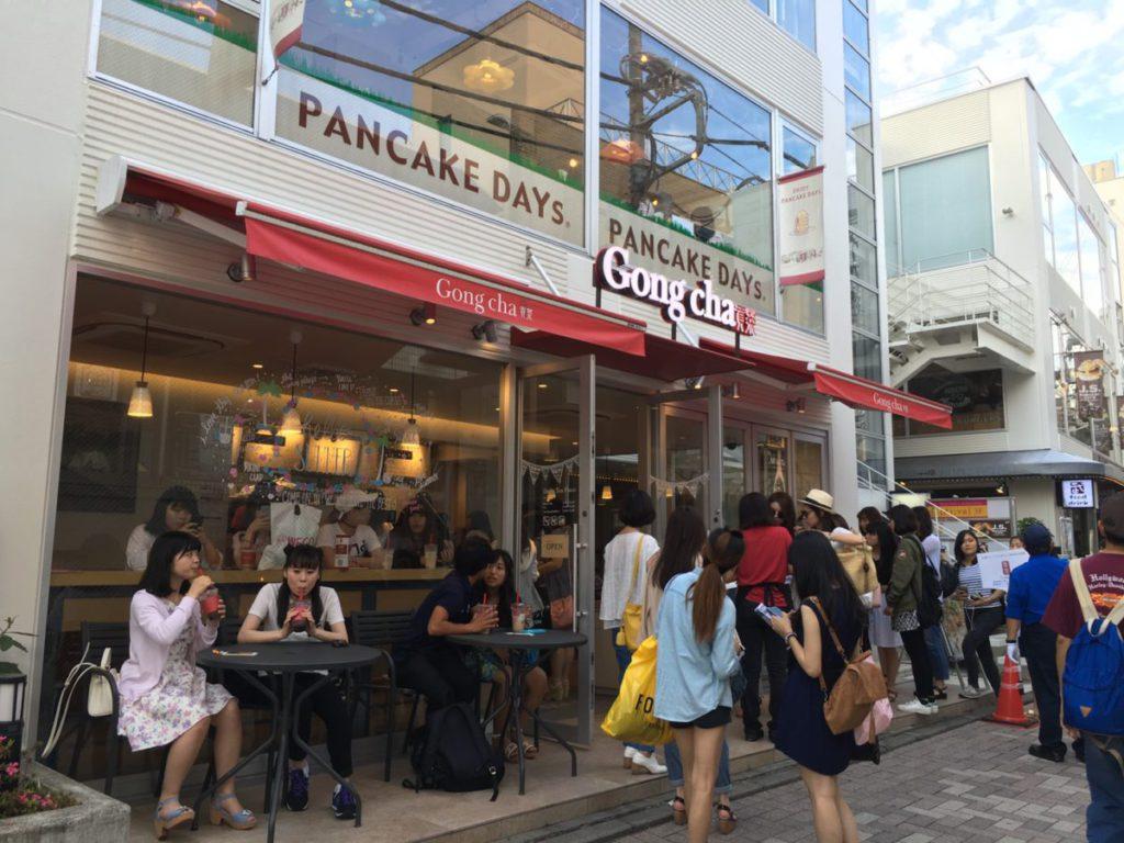 在日本非常受歡迎的珍珠奶茶店也減少了