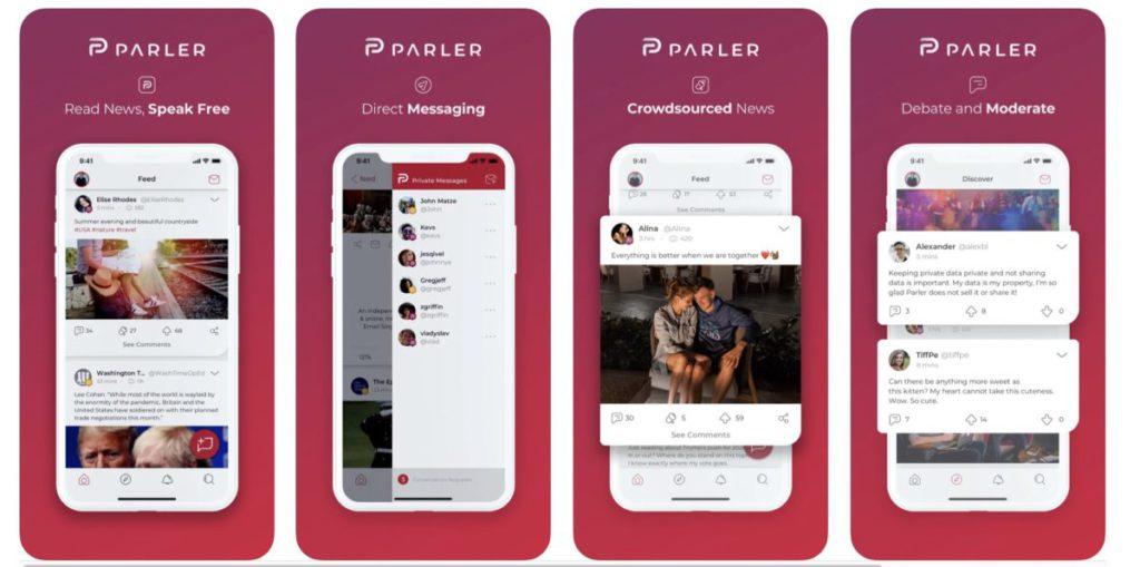 Apple、Google 和 AWS 均指 Parler 沒有制止令人不安的內容而相繼將 App 下架或終止提供服務。