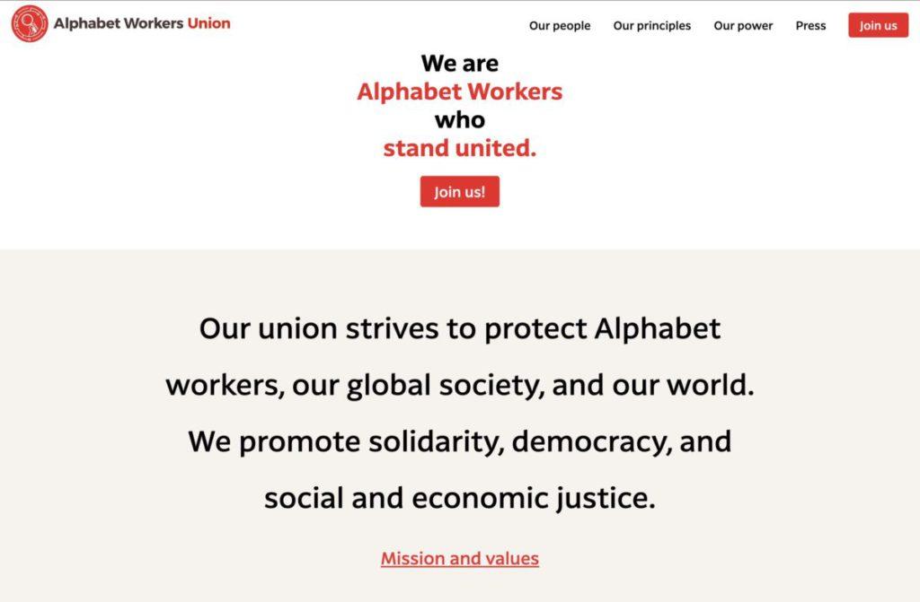 由 Google 和 Alphabet 員工組成的工會 AWU 正式成立。