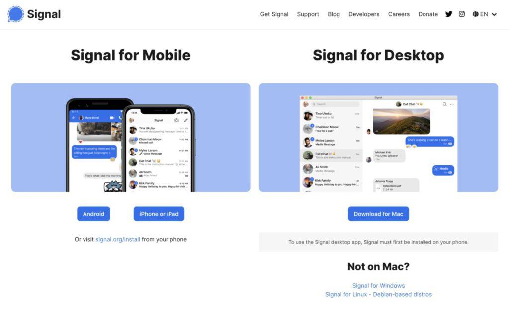 Signal 一樣有手機版和電腦版,但保安程度卻大不相同。
