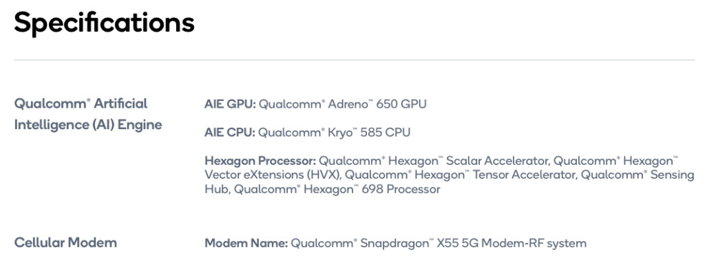 Snapdragon 870 配合的 5G Modem 也同樣是獨立的 Snapdragon X55。