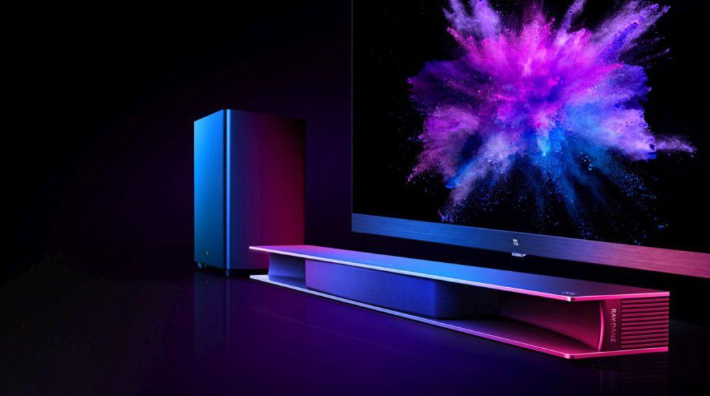 TCL 創新研發的 RAY•DANZ 技術,使聲音定位層次分明,提供極廣闊的音場