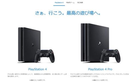於日本 PlayStation 上網站介紹上雖然有列明 PS4 Pro 。