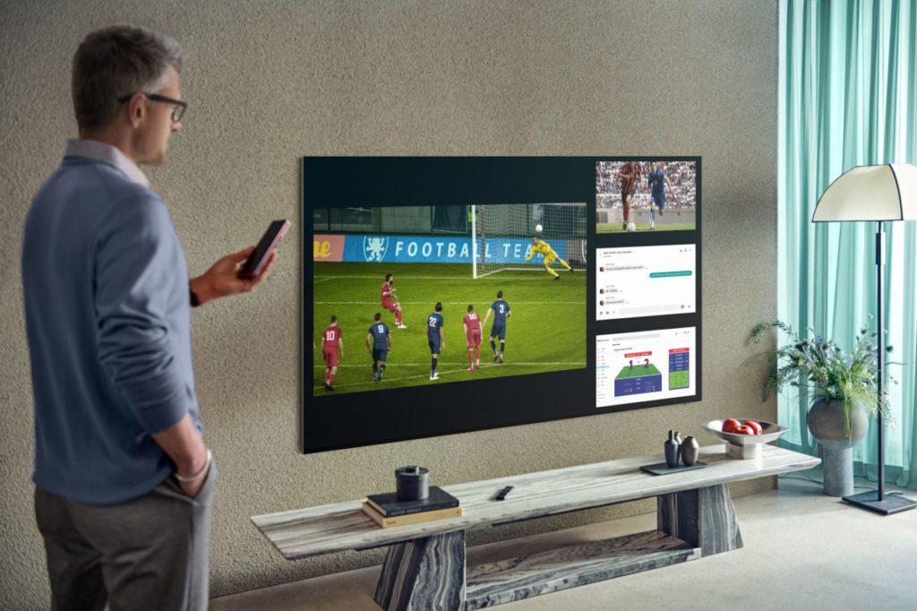 .今年 Samsung 電視有四分割畫面,可以有效利用中畫面空間。