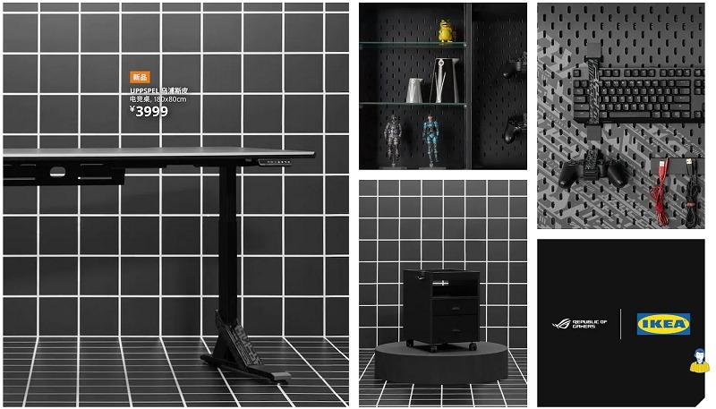 ROG x IKEA 會包括電動昇降工作枱
