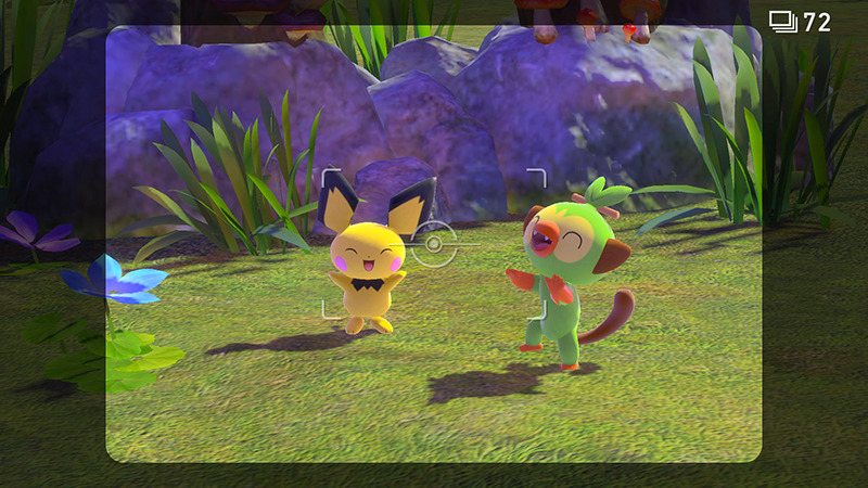 在島上可觀察到其他《寵物小精靈》遊戲中不會見到可愛的一面。