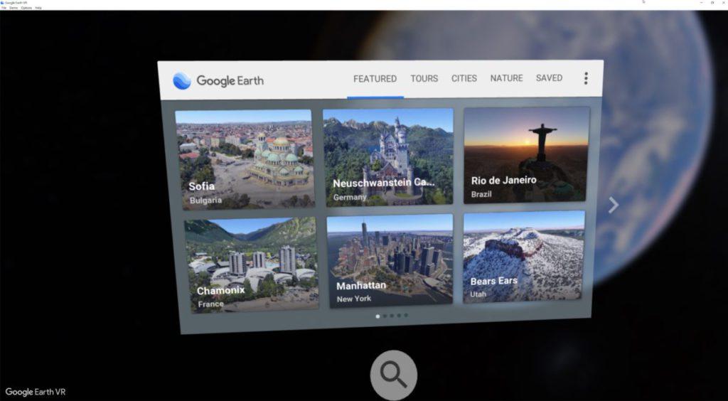 除了可以在地球儀自由選擇地點之外,軟件裡也備有很多預設城市和自然界景點可供遊覽。