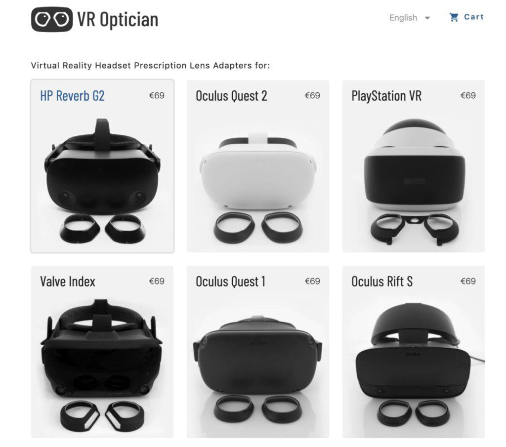 有廠商為多款 VR 裝置推出有度數鏡片框。