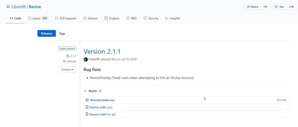 到 Github 下載最新版本的Revive 。