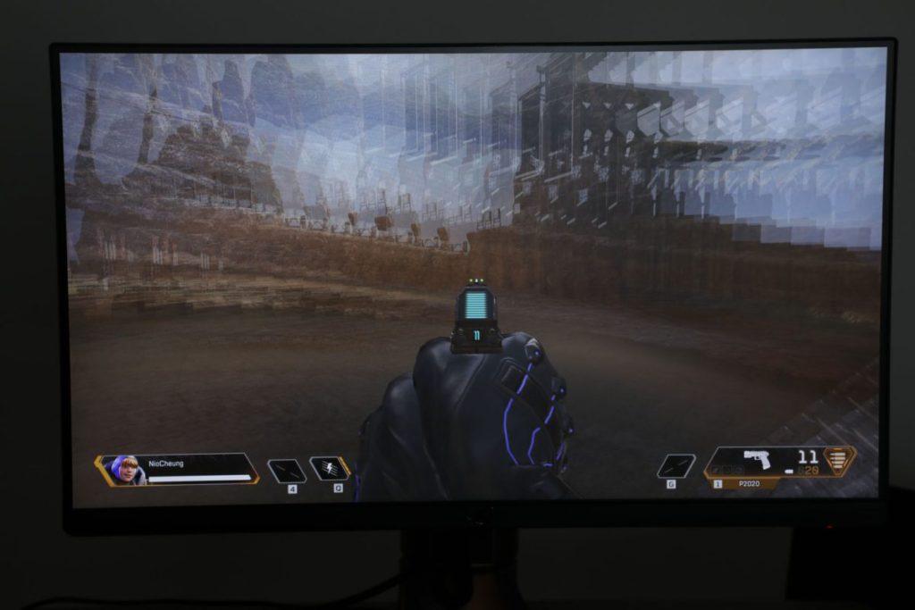 開啟G-Sync後即使高速轉動畫面亦未見有撕裂情況出現。