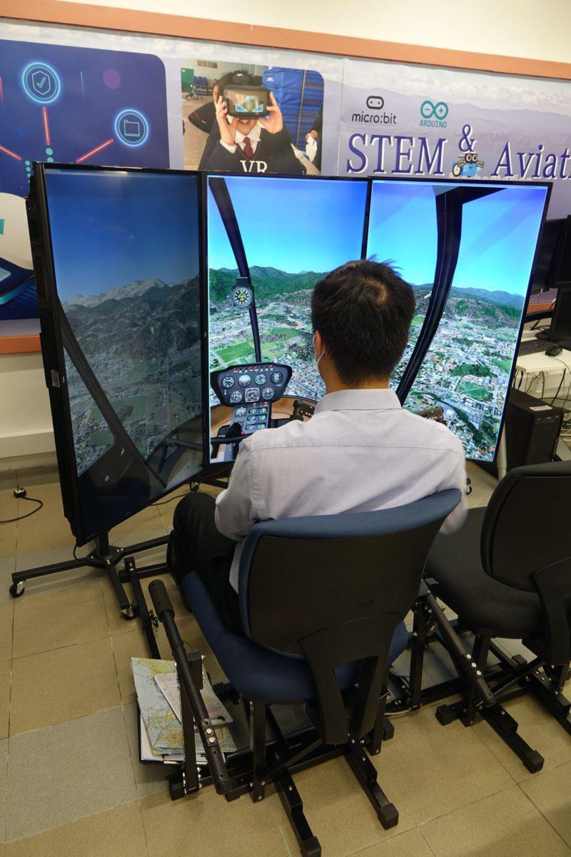 葉老師表示,設計的模擬直升機空間仿真度要高,務求讓學生有更真實的體驗,提升自我管理能力。