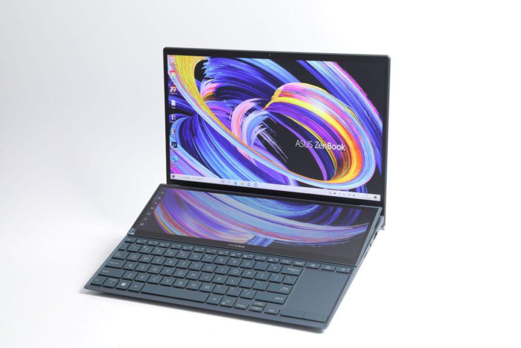 配備雙屏幕 設計的ZenBook Duo 14 造型非常 搶眼。