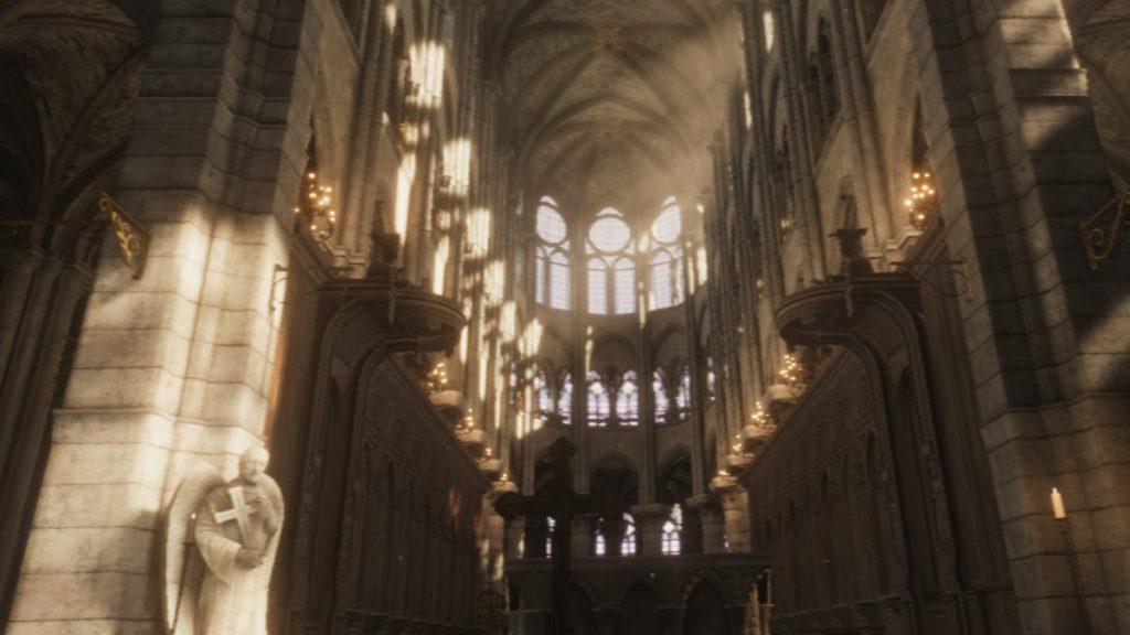 雖然解像度比較低,但已經可以看出聖母院教堂的宏偉。