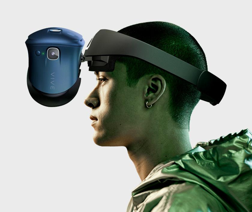 眼罩可以輕易地翻起,即時回歸現實世界。