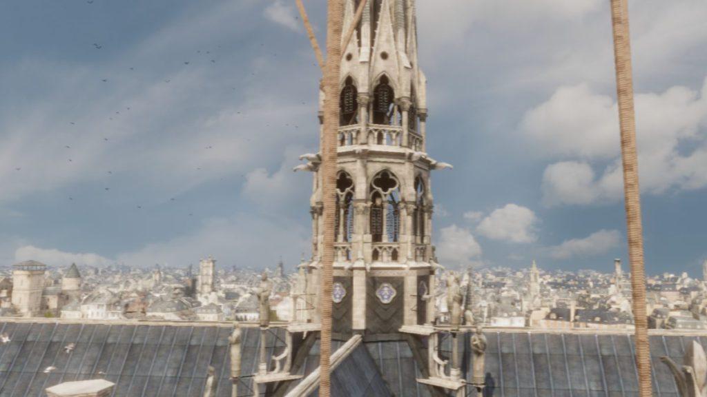 從熱氣球除了可觀看大教堂的建築之外,還可以飽覽當年的巴黎景色。