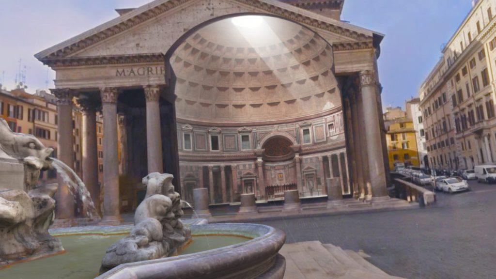 導遊 Melissa 會以語音來為遊客解說古羅馬和馬丘比丘的建築。