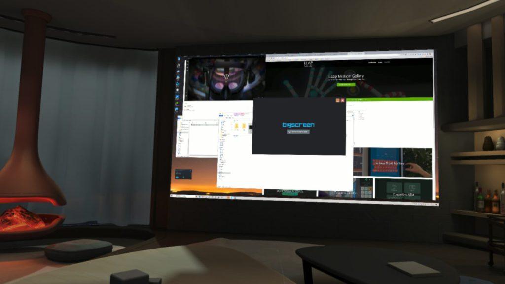 在虛擬豪宅裡,可以將電腦畫面投放到大屏幕上,最適合觀看影片和協作會議。