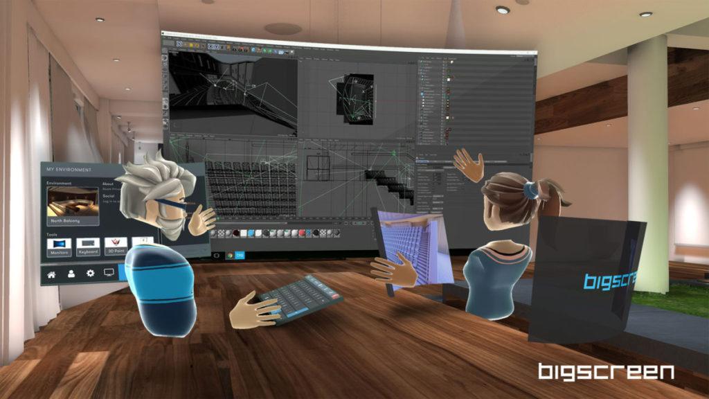 只要同事朋友都有帳戶和 VR 裝置,就可以開放房間讓大家進來,一起欣賞電影、閒聊,或者協作、會議。