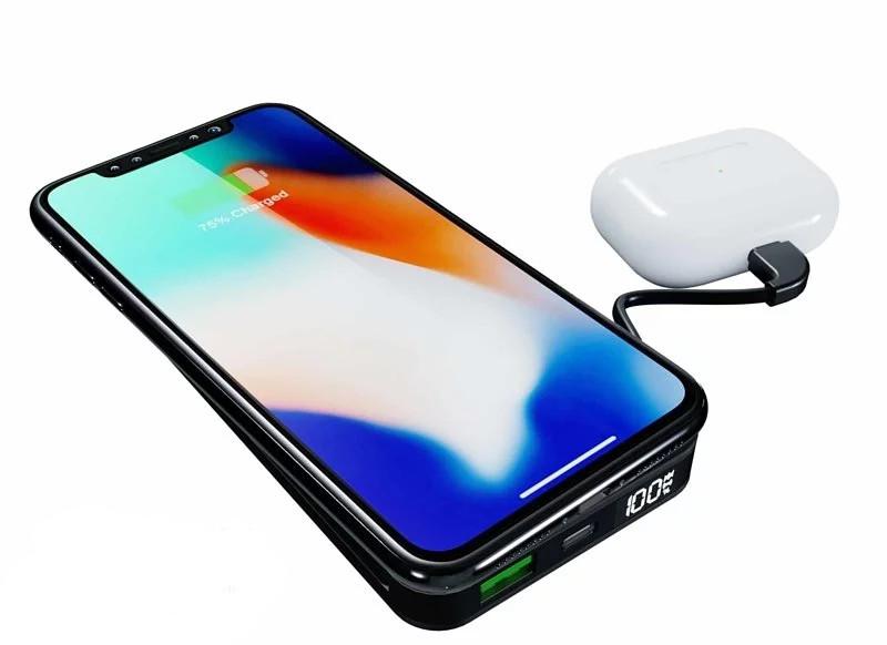 市面上已經有支援 Qi 無線充電的流動充電池