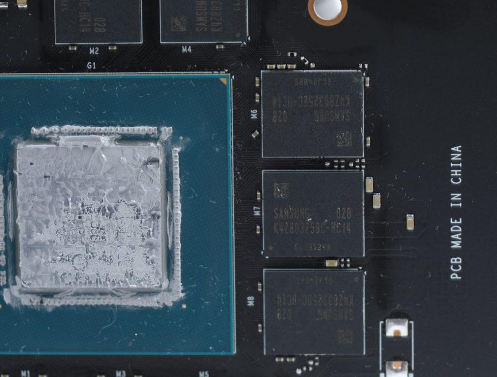採用 Samsung GDDR6 記憶體