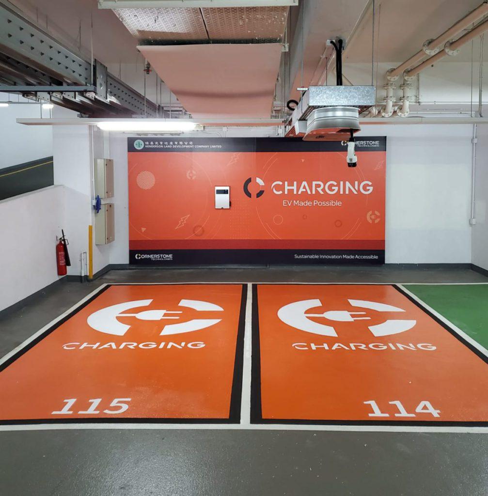 頂掛式充電器,能滿足香港停車場的獨特需要。