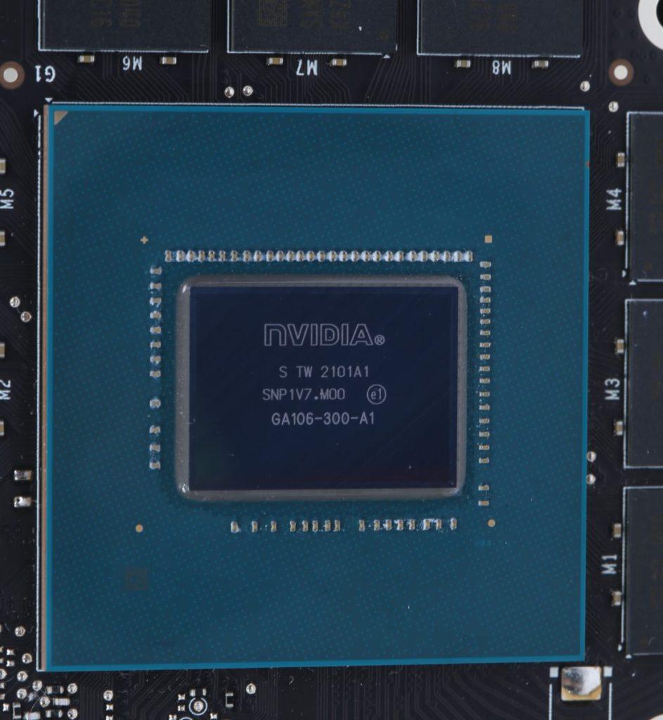 Desktop 版 RTX 3060 所用的 GA106-300-A1 核心