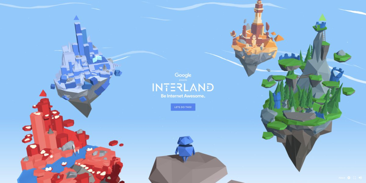 Google 的「 Be Internet Awesome 」網絡安全互動平台可以讓小朋友透過遊戲學習網絡安全知識。