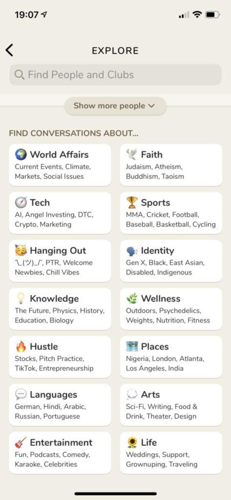 可以透過分類來找尋想追聽的主持和 Club 。