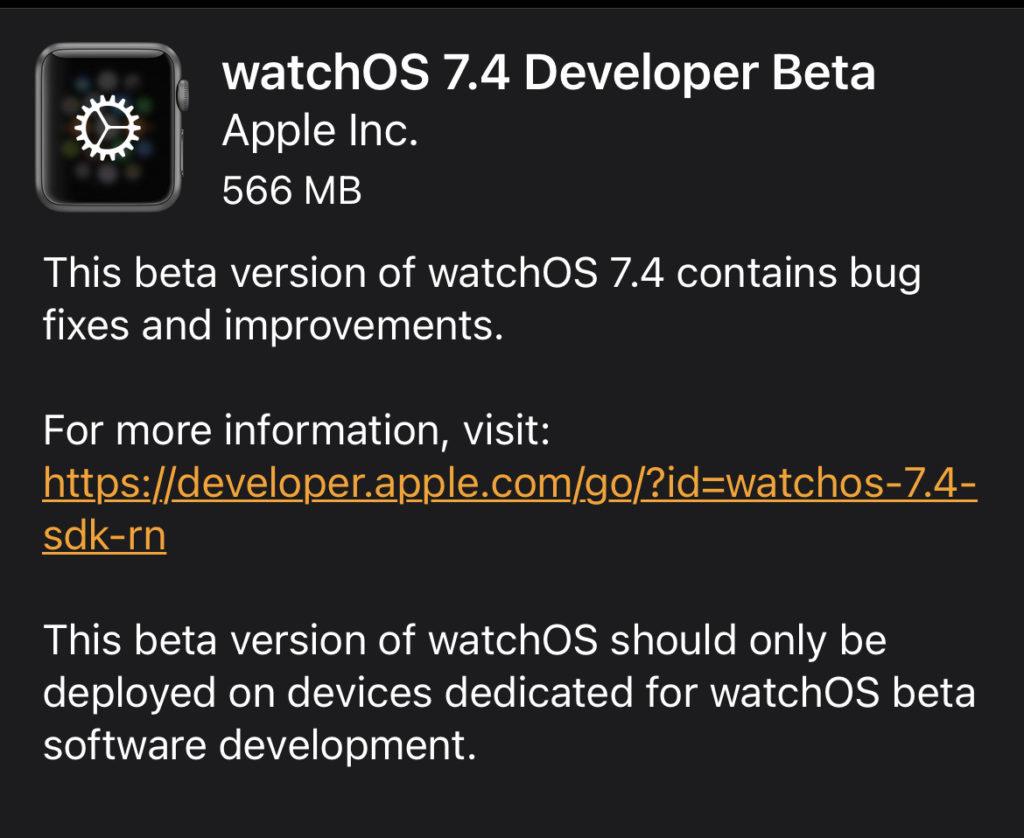 Apple Watch 解鎖 iPhone 功能需要手錶也升級到 watchOS 7.4 。